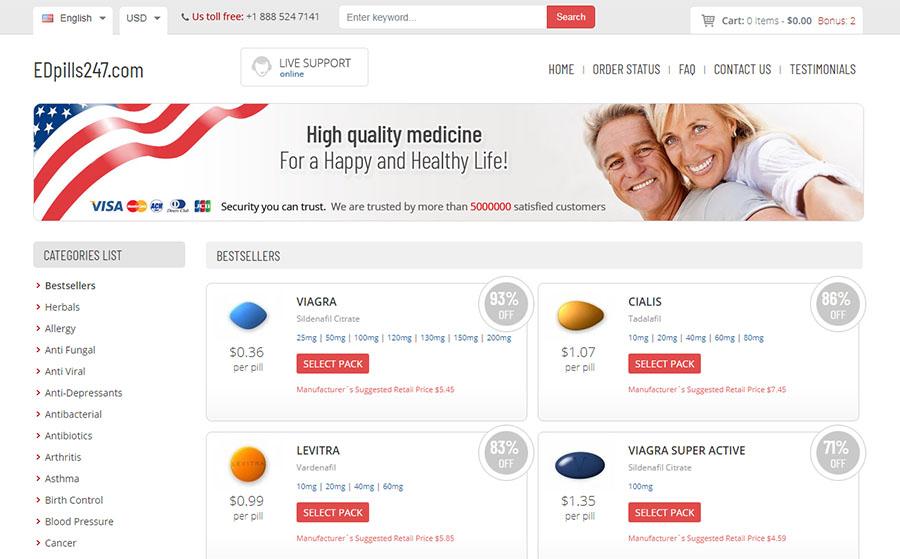 EDpills247 com Reviews – Fake Reviews - Safeguard Your Health