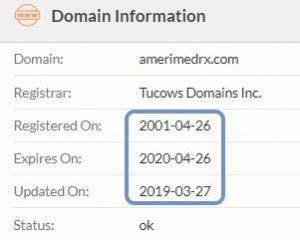 registered in 2001