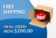 free shipping for orders above $200
