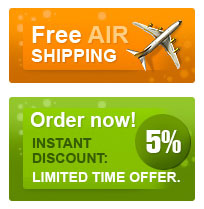 free shipping and 5% discount