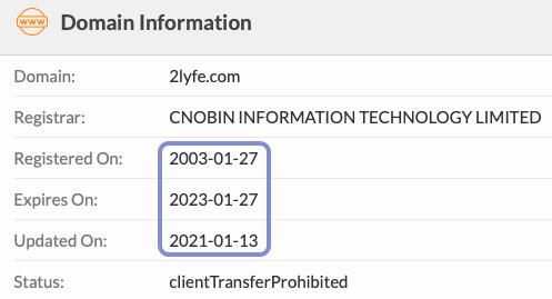 registered in 2003