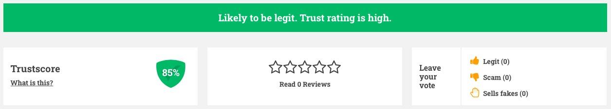 85% of trust